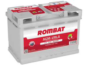 Baterie Auto Rombat Agm 12 V 70 AH 760 A 276x175x190  cod: 5701230076