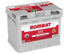Baterie Auto Rombat Efb 12 V 60 AH 560 A 242x175x190  cod: 5601120056