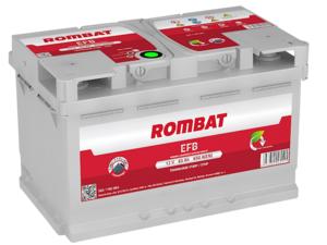 Baterie Auto Rombat Efb 12 V 65 AH 650 A 278x175x175  cod: 5651190065