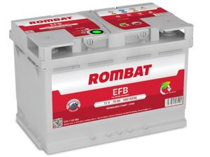 Baterie Auto Rombat Efb 12 V 70 AH 650 A 278x175x190  cod: 5701130065