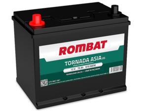 Baterie Auto Rombat Tornada Asia 12 V 75 AH 610 A 259x178x222  cod: 57536G0061