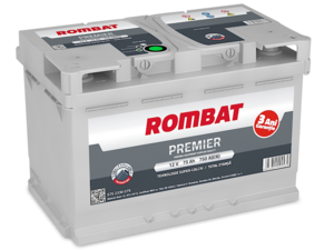 Baterie Auto Rombat Premier 12 V 75 AH 750 A 278x175x190  cod: 5752330075
