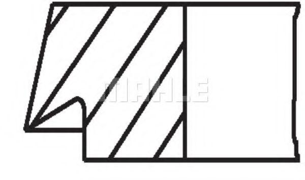 Set segmenti piston