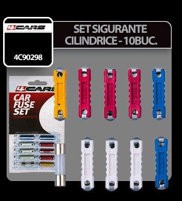 Set sigurante cilindrice 10 buc - 4Cars