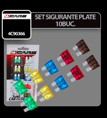 Set sigurante plate 10 buc - 4Cars