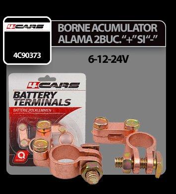 Borne acumulator alama 4Cars 2 buc