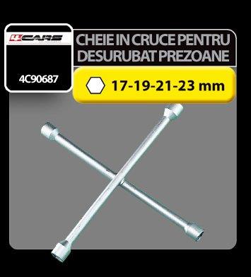 Cheie in cruce pentru desurubat prezoane roti 17-19-21-23 mm 4Cars