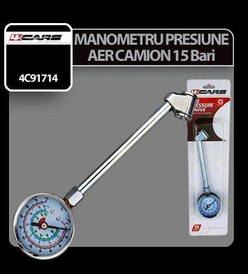 Manometru presiune aer camion 15 Bar 4Cars