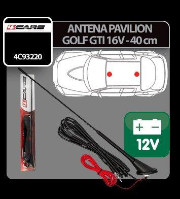 Antena pavilion cu amplificator semnal Golf GTI 16V 4Cars - 40 cm