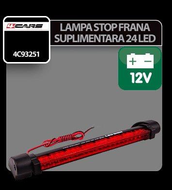 Lampa stop frana suplimentara cu 24 LED 12V 4Cars