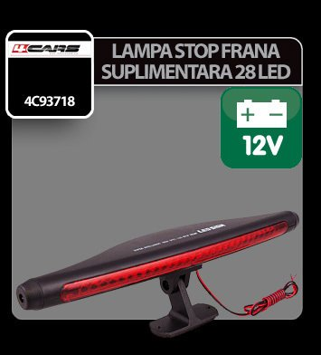 Lampa stop frana suplimentara cu 28 LED 12V 4Cars