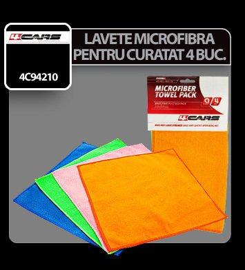 Lavete microfibra pentru curatat 30x30cm 4buc 4Cars
