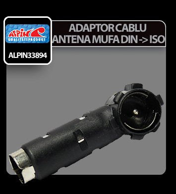Adaptor cablu antena mufa DIN in ISO Alpin