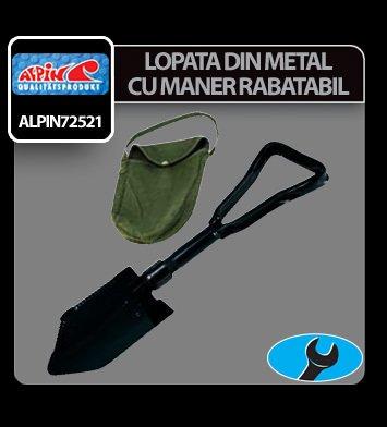 Lopata din metal cu maner rabatabil