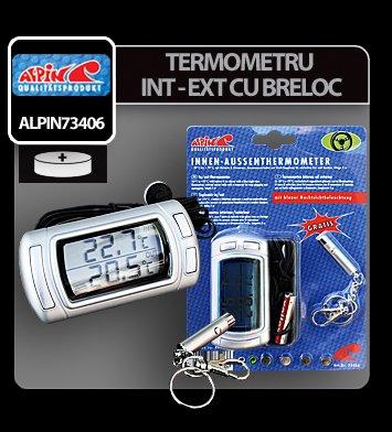 Termometru interior - exterior cu breloc Alpin