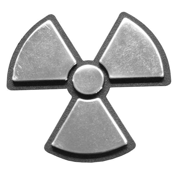 Autocolant 3D crom Radioactive