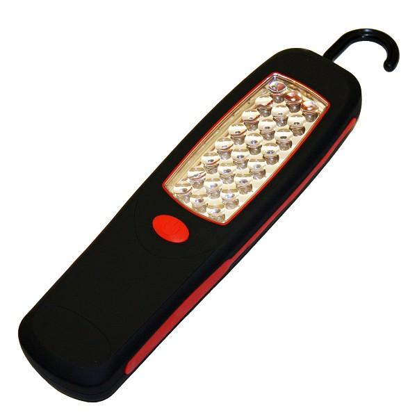 Lampa de lucru cu 24 LED-uri si magnet Alpin - Negru/Rosu