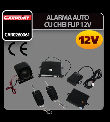 Alarma auto cu chei flip 12V