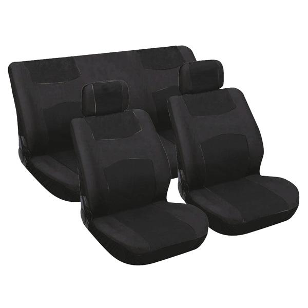 Huse scaun Standard 6buc Carpoint - Negru