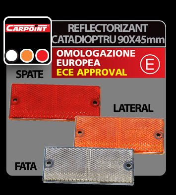 Reflectorizant catadioptru 90x40 mm 1buc - Rosu