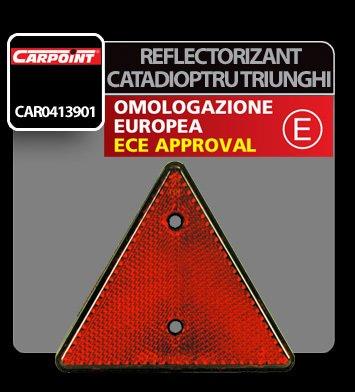 Reflectorizant catadioptru triunghiular 150 mm 1buc - Rosu