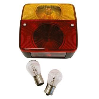 Lampa stop spate cu 4 functii + 2 becuri 11x10x5 cm 1 buc. - 12V