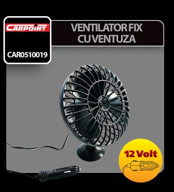 Ventilator fix cu ventuza Carpoint 12V