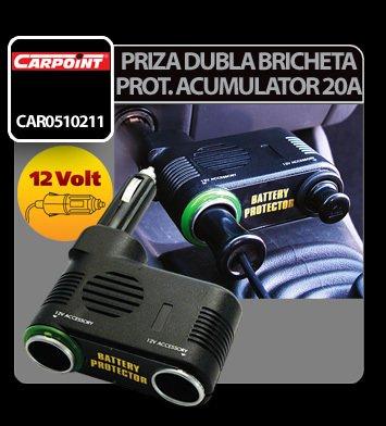 Priza dubla bricheta cu protectie acumulator 12V 10A Carpoint