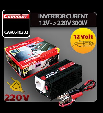 Invertor curent de la 12V la 220V 300W Carpoint