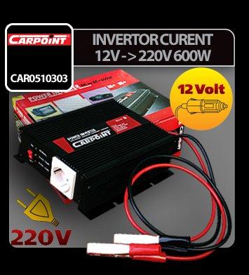 Invertor curent de la 12V la 220V 600W Carpoint