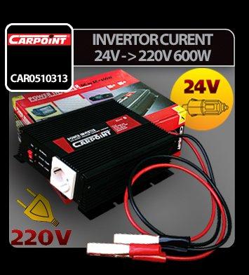 Invertor curent de la 24V la 220V 600W Carpoint