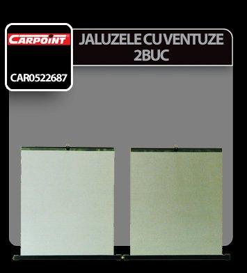 Jaluzele cu ventuze Carpoint 2buc - 40x50 cm