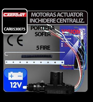 Motoras actuator inchidere centralizata cu 5 fire 12V (sofer)