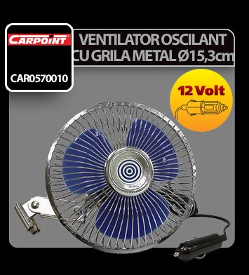 Ventilator oscilant cu grila metal Carpoint 12V