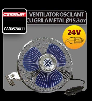 Ventilator oscilant cu grila metal Carpoint 24V