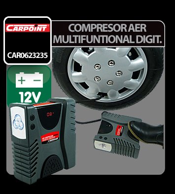 Compresor aer multifunctional digital 12V