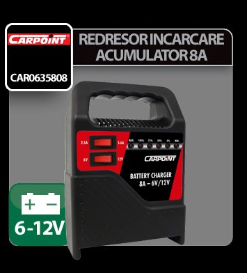 Redresor incarcare acumulator Carpoint 2/8A - 6/12V