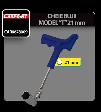 Cheie bujii model T Carpoint - 21 mm