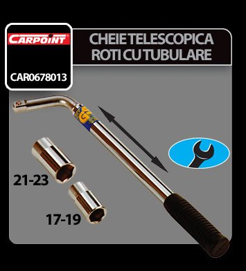 Cheie telescopica pentru roti cu tubulare 17-19 si 21-23 mm Carpoint