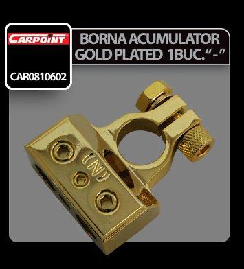 Borna acumulator Gold plated 1 buc - Negativ