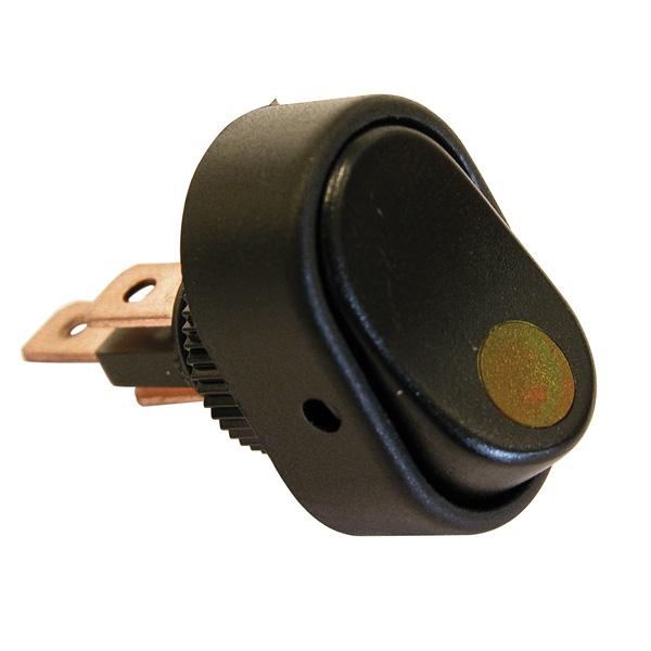 Intrerupator basculant cu LED 12V - 30A - Galben