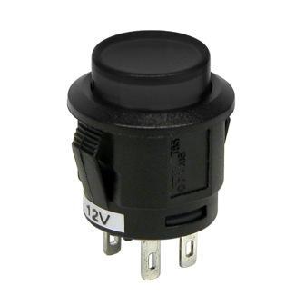 Intrerupator tip buton cu revenire Negru 12V 20A