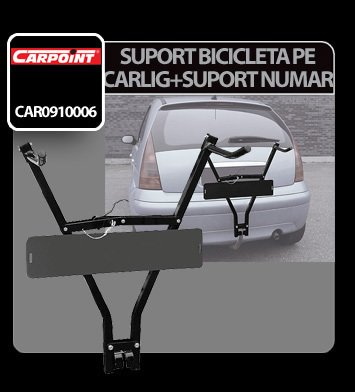 Suport bicicleta pe carlig cu suport numar Carpoint