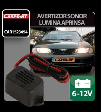 Avertizor sonor lumina aprinsa 6-12V Carpoint