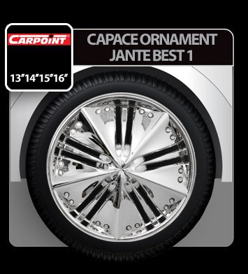 Capace ornament jante Best 1 4buc - Crom - 14''