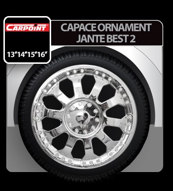 Capace ornament jante Best 2 4buc - Crom - 14''