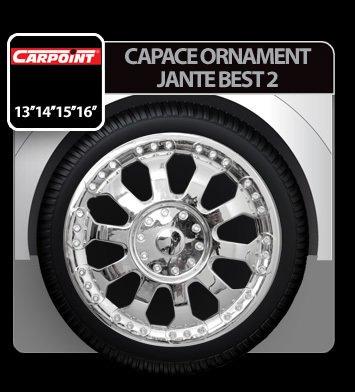 Capace ornament jante Best 2 4buc - Crom - 14''