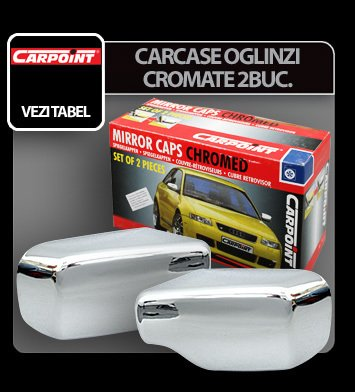 Carcase oglinzi cromate OPEL CORSA 98>02, 2 buc.