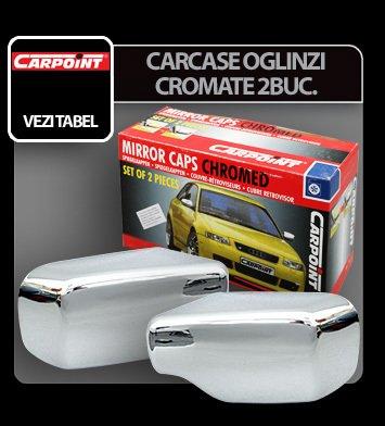Carcase oglinzi cromate PEUGEOT 206 98>, 2 buc.