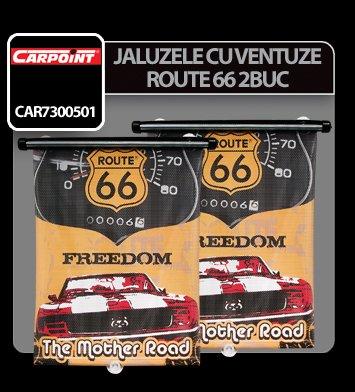 Jaluzele cu ventuze Route 66 2buc - 36x50 cm